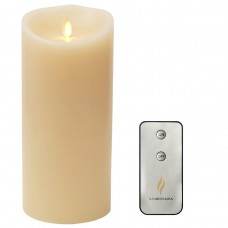 "Remote Include Luminara  Flameless Candle: Vanilla Scented Moving Flame Candle with Timer (3.5""x9"" Ivory)"