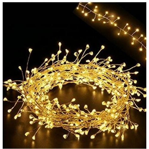 5 5ft Cluster Lights Led Fairy Starry Candleholder Wreath Garland String Lights 160leds On Extra Thin Silver Copper Wire String W Ul Listed Adaptor