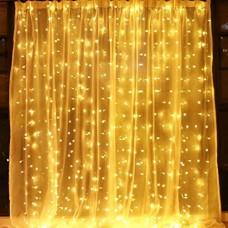 Window Curtain String Lights,300 LED Icicle Fairy Twinkle Starry Lights-UL Listed for Indoor and Outdoor, Wedding, Christmas, Party, Garden Home Bedroom Wall Decoration (9.8ftx9.8ft, Warm White)